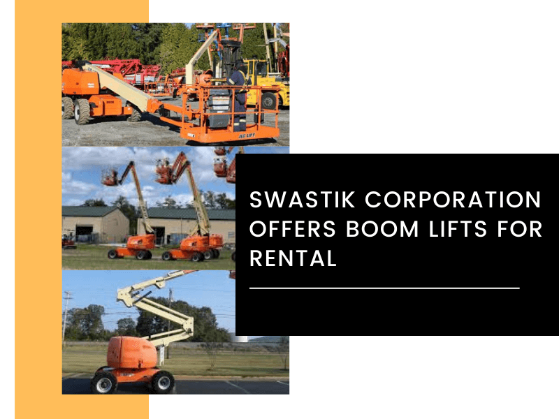 Swastik Corporation Offers Boom Lifts For Rental